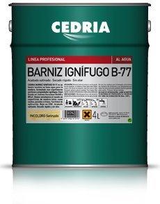 Barniz Ignífugo B-77 Cedria protector fuego madera 4 litros