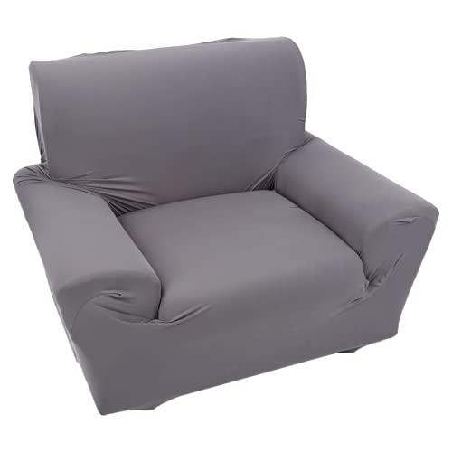 Funda de sofá individual, de alta elasticidad, color beige, burdeos, marrón, azul, gris, funda de sofá individual para el hogar (gris)