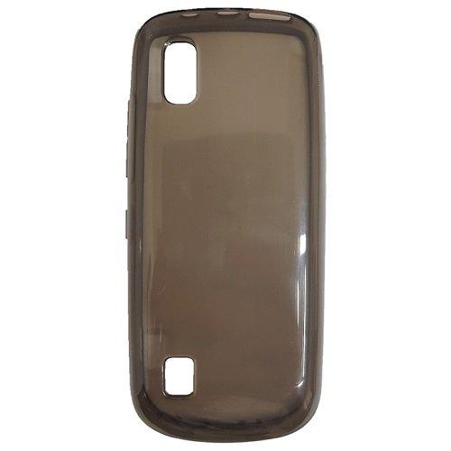 Diva Custodia in Silicone/Silicone Case Nokia Asha 300 (Nero Trasparente)