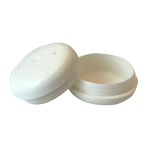 Project Patio 1-1/2 Inch Deluxe Round Glide Insert Cup End Cap for Wrought Iron Patio Furniture Chairs and Tables 24-Pack (White)