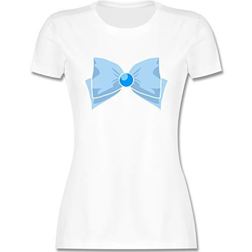 Karneval & Fasching - Superheld Manga Merkur Kostüm - XXL - Weiß - Karneval kostüm superhelden Damen - L191 - Tailliertes Tshirt für Damen und Frauen T-Shirt
