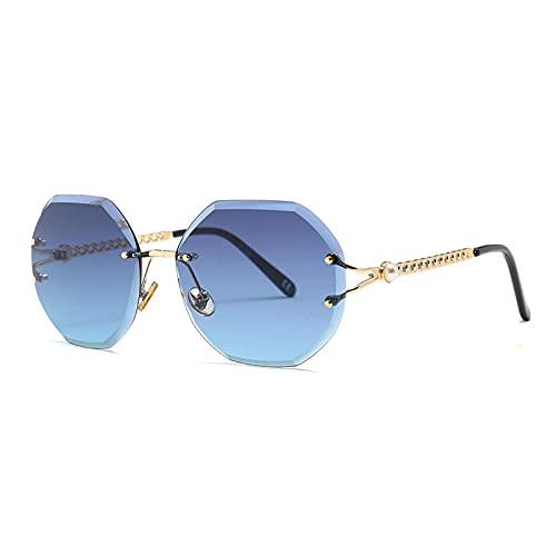 HAOMAO Gafas de sol sin montura fotocromáticas con gradiente de lente de corte Uv400 para mujer, sombras sin marco 3