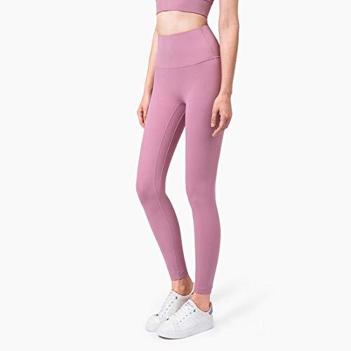 Hanks' Shop Yoga-Hosen mit hoher Taille Anti Flanschmaschinen Keine Peinlichkeit One Piece Hip Lifting Peach Hosen-schwarz (Color : Pink Taupe, Size : S)