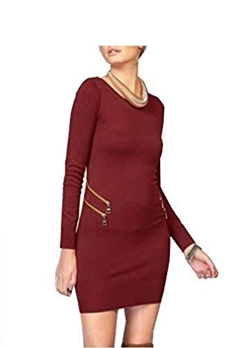 Melrose Kleid Strickkleid Bordeaux - Gr. 36