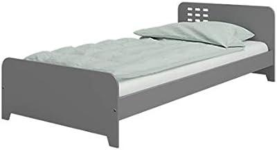 Steens Kinderbett, MDF, grau, Einzel