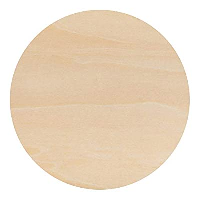 Creative Hobbies 12 inch Round Circle Cutout Shapes, DIY Unfinished Wood Craft Shape - Pack of 3, Ready to Paint or Decorate