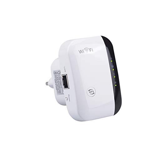 YIDPU Repetidor De WiFi, Repetidor De 300Mbps, Amplificador De Señal Inalámbrico WiFi, Red 2.4G con Puerto LAN De Antena Integrado, Oficina, Uso En Interiores