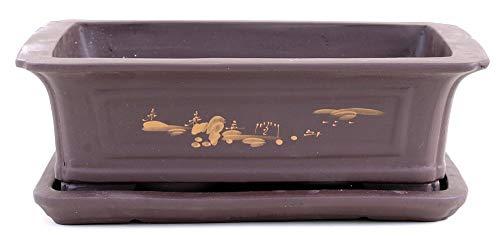 Bonsai 41075 Bol et soucoupe rectangulaire avec motif 35 x 25 x 11 cm