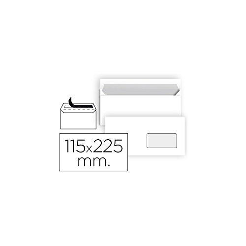 Liderpapel - Sb90 Confezione da 25 buste con finestra destra, 115 x 225 mm, colore: bianco