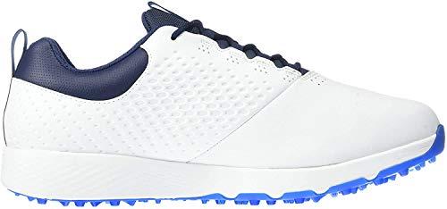 Skechers Elite 4 Herren Golfschuh wasserdicht, Weiá (weiß/Marineblau), 44 EU