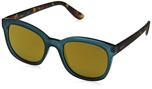 Pepe Jeans dames Valene zonnebril, blauw (petrol/bruin), 53.0