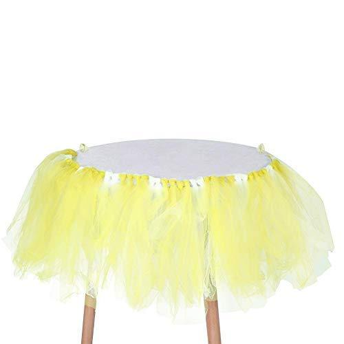 GLOGLOW Duevin Handgemaakte Hoge Stoel Fluffy Rok Zoete Baby Douche Verjaardag Feesttafel Decor (03)
