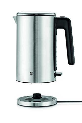 WMF Lono Wasserkocher Edelstahl 1,6l, elektrischer Wasserkocher mit Kalkfilter, 2400 W, Wasserstandsanzeige beleuchtet, edelstahl matt
