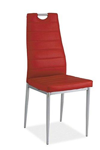 Jadella Stuhl \'Venlo\' Esszimmerstuhl Küchenstuhl Modern, Farbe:Rot