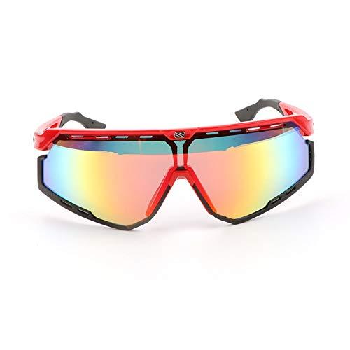 Hancoc Gafas De Sol Negras Rojas Zapatillas Deportivas Gafas De Montar Conjunto De Gafas (Color : Red)