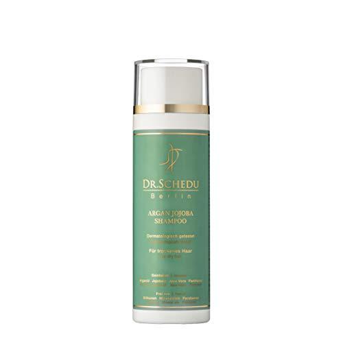 Dr. Schedu Berlin Argan Jojoba Shampoo 200 ml, mit Aloe Vera Gel und Panthenol, für trockenes, gefärbtes und strapaziertes Haar, silikonfrei, tierversuchsfrei