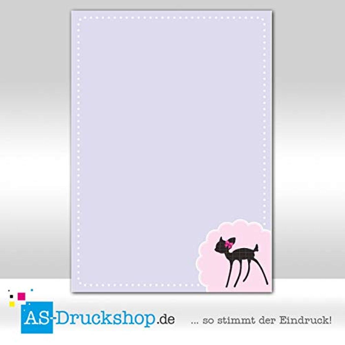Design Paper Children's Fawn Purple 25 Sheets DIN A4 90 g Offset Paper