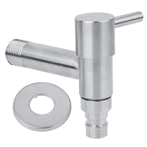 """Wasserhahn Edelstahl Waschmaschine Wand Wasserhahn Mopp Pool Single Cold Tap G1/2"""""""
