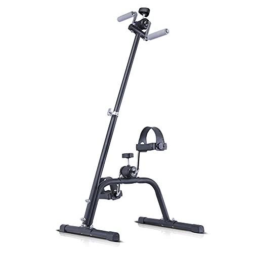 Mini bicicleta estática, Entrenador de Pies y Manos portátil, entrenamiento de rehabilitación de hemiplejía por accidente cerebrovascular/Black / 90x40.5x42.5cm