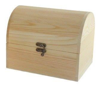 Pine kist van onbehandeld hout om te beschilderen, ideaal voor knutselen en decoratie. Afmetingen (B x D x H): 20 x 15 x 16 cm.