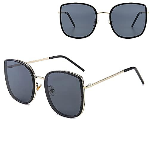 Gafas de sol para mujer, polarizadas con protección UV, adecuadas para ciclismo, correr, viajes, playa, pesca, color negro