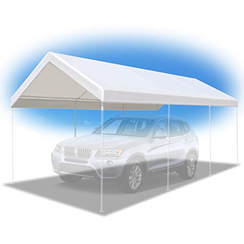 BenefitUSA 10'x20' Carport Replacement Canopy Garage Top Tarp Shelter Cover w Ball Bungees, Canopy...