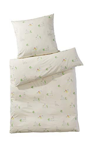 hessnatur Baby Mädchen und Jungen Unisex Jersey Bettwäsche aus Reiner Bio-Baumwolle Gemustert 135x200+80x80 cm