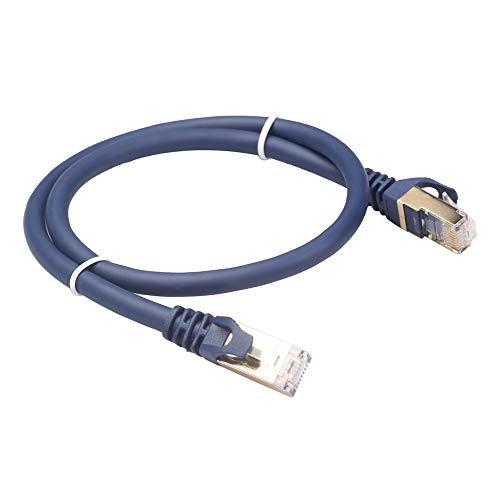 VORA Cable Ethernet Cat8 Cable de Red RJ45 SFTP LAN RJ45 Jumper para PS 4 Ordenador PortáTil Router 8 Cable Ethernet 1Metro