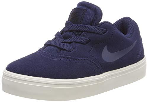 Nike Jungen Unisex-Kinder Sb Check Suede (td) Skateboardschuhe, Mehrfarbig (Midnight Navy/Midnight Navy-Black 400), 27 EU