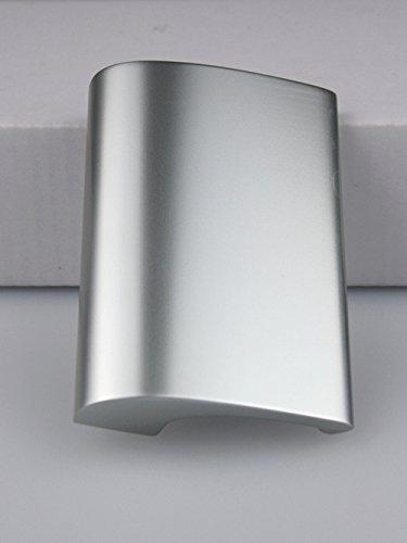 Balkongriff Ziehgriff Terrassentürgriff Deluxe - Aluminium - verschiedene Farbe (Silber eloxiert)