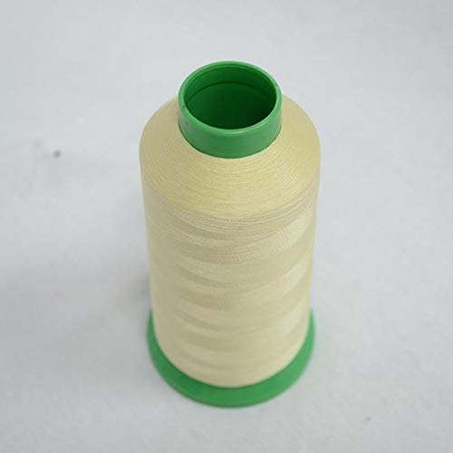 Borduurgaren 1 Roll Nylon Embroidery Sewing Thread 1000 Yards Spool Luminous Glow In The Dark naaimachine ZHQHYQHHX (Color : Light Yellow, Side Type : 1000 Yards)