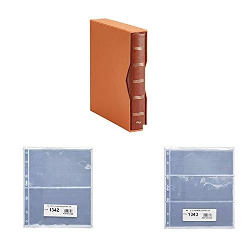 Pardo 1340 - Album Para Colección Billetes Universales + 10 Fundas 134200 + 10 Fundas 134300 (Marrón)
