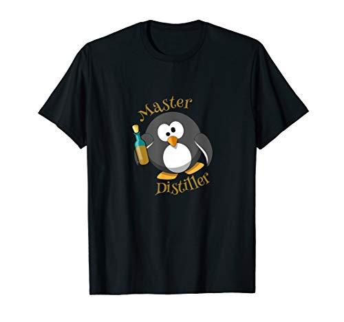 Destillateurmeister Alkohol Schnaps Gin Betrunkener Pinguin T-Shirt