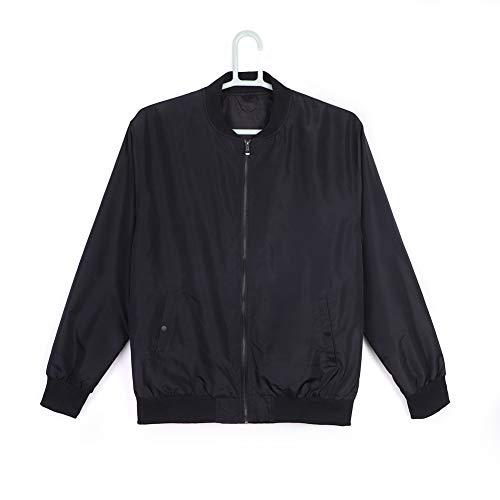 Bailunmuzi Men's Lightweight Front-Zip Athletic Casual Jacket Black XL