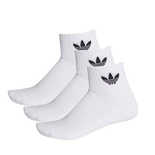 Adidas Mid Ankle Socks Socken 3er Pack (35-38, white/black)
