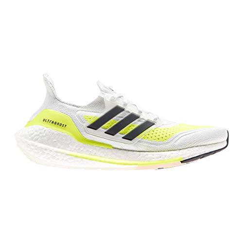 adidas Ultraboost 21 W, Zapatillas para Correr Mujer, FTWR White Core Black Solar Yellow, 38 2/3 EU