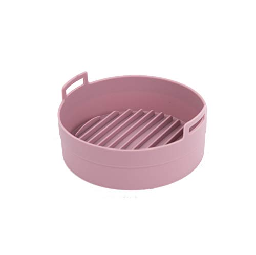100% Platinum Silicone Pot for Air Fryer and Microwave (Pink, Small (Diameter 6.3 in))