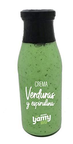 Yamy BIO Crema de Verduras y Espirulina - Pack de 6 Botellas x 490gr - Producto Ecológico elaborado en Navarra