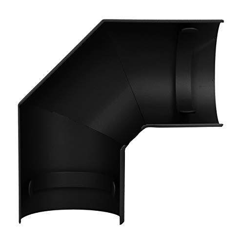 LANZZAS Rauchrohr Ofenrohr Kaminrohr Hitzeschutzschild für Bogen 90° seitlich Ø 150 mm schwarz