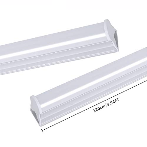 LED Leuchtstoffröhre T5 120cm Deckenleuchte,20W 1600lm 6500k Kaltes Weiß LED Lampe Tube light Bürobeleuchtung Garage Licht Leuchtstofflampe 2 pcs