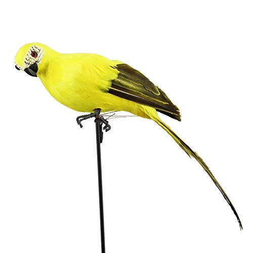 Review Of 25CM Artificial Foam Feather Birds, Simulation Cute Animal Model Toys, Perching on Branch ...