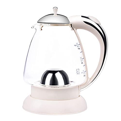 AICKERT Hervidor eléctrico de vidrio, hervidores eléctricos de 1,35 l inalámbricos con luz LED, hervidor ecológico de hervido rápido silencioso de 1500 W, sin BPA/white
