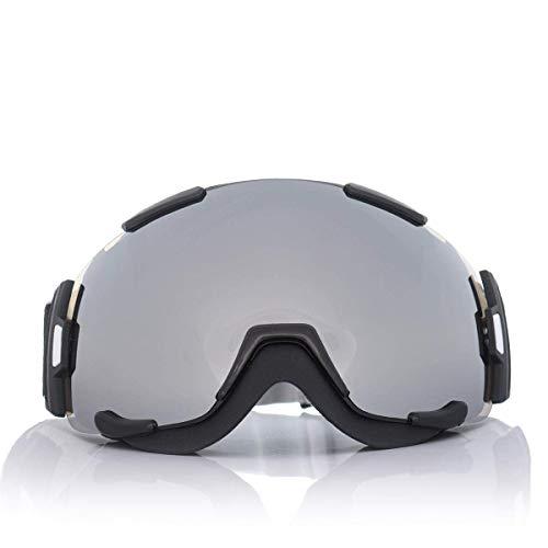OutingStarcase. Unisex Outdooors UV-Schutzbrille Ski Motorrad-Reiten Anti-Fog-Spiegel-Objektiv Motorradteile Motorrad-Werkzeug (Farbe: Grau)