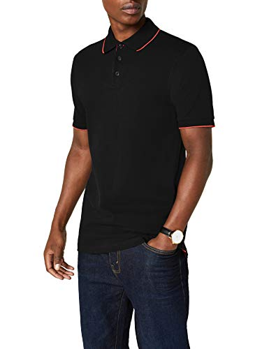 James & Nicholson Herren Poloshirt Polo Campus schwarz (black/red) X-Large