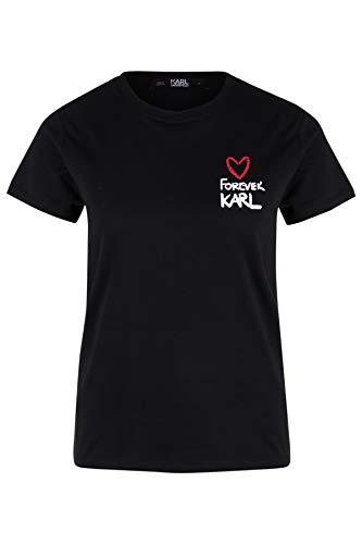 Karl Lagerfeld Damen T-Shirt Forever Karl Nero M