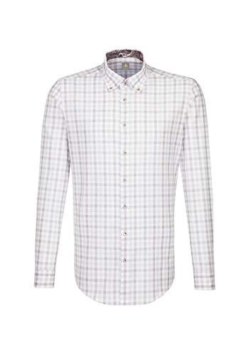 Jacques Britt Herren Business Hemd Custom Fit Langarm Button-Down-Kragen Bügelleicht