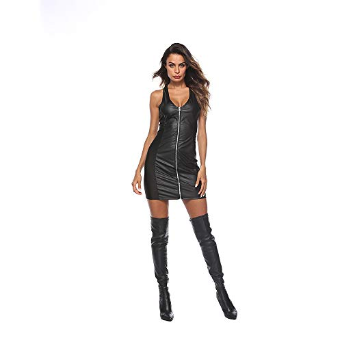 Sexy Dessous Imitation Leder Lackleder Langer Rock Sexy Nightclub Versuchung