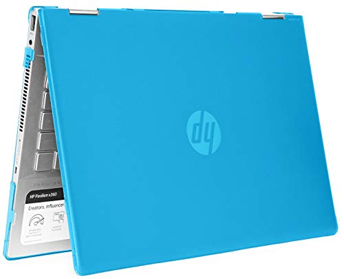 mCover Hard Shell Case for 14' HP Pavilion X360 14-CDxxxx / 14-DDxxxx Series Convertible 2-in-1 laptops – HP-PX360-14CD Aqua