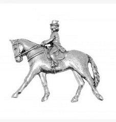In Geschenkbox Zinn - polige Badge pin Pins Anstecker Dressur Pferd für Schals, Band, für Hüte, Mäntel und Tasche