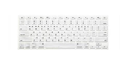 New Korean Keyboard US Version Silicone Protector Stickers Skin For Macbook Air 13 For Mac Pro 13 15 17 Retina Keyboard Cover-silver-